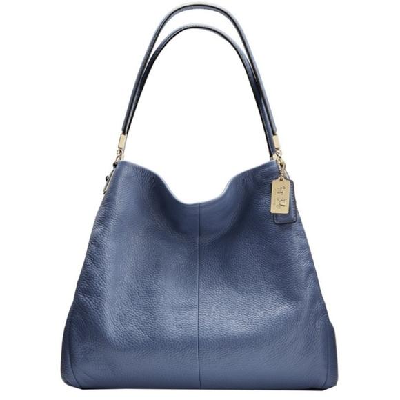 Coach Phoebe Madison Shoulder Bag & Wallet- Blue